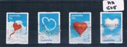 Australia 2015  Love 4val P/s F/used AA505 - 2010-... Elizabeth II