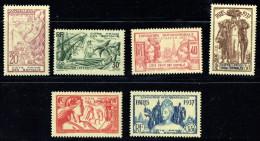 1937  Exposition Internationale De Paris  Yv 141-6 ** - French Somali Coast (1894-1967)