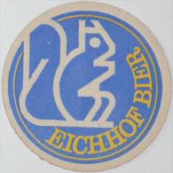 Sous-bock Ancien EICHHOF BIER BRAUEREI Barbara Pony Écureuil Canon Canonnier Bierdeckel Old Beermat Bierviltje (CX) - Sous-bocks