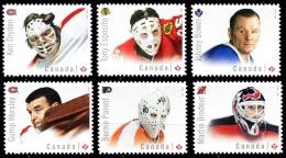 Canada (Scott No.2867-72 - Gardiens De But / Hockey / Goaltenders) [**] Autocollant / Adhesive) [**] NOTE - 1952-.... Reign Of Elizabeth II