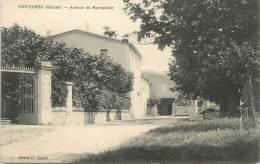 """.CPA  FRANCE 34 """"Fontanès, Avenue De Montpellier"""" - Frankrijk"""