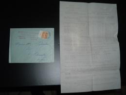 LETTRE TP SEMEUSE 5c  MILLESIME 4 OBL.9-?-2? MARSEILLE ST FERREOL (13) STE DES PRODUITS AGRICOLES L'ABEILLE - Postmark Collection (Covers)
