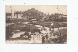 Cp , 69 , LYON , Exposition Internationale 1914 , Le Jardin Et Le Grand Hotel , écrite 1916 - Lyon
