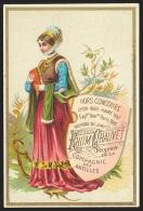 Chromo RHUM CHAUVET (Martinique) - Dame Du Moyen-Âge - Trade Cards