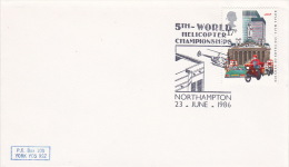 Great Britain 1986 5th World Helicopter Championship Souvenir Cover - 1952-.... (Elizabeth II)