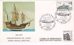 Italy 1972 Civico Museo Navale 50 Mo Anniversario - 6. 1946-.. Republic