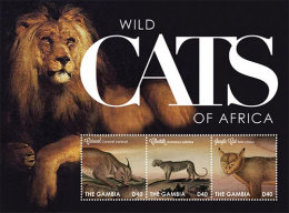 GAMBIA ; SCOTT # 3423 ; IGPC1230 SH ; MINT N.H STAMPS ( WILD CATS OF AFRICA - Gambia (1965-...)