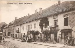 Cpa 25 Vercel Garage Vuillemin A Voir Commerce Cafe Voiture Ancienne Vélo Ancien Belle Animation - Other Municipalities