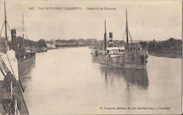 PORT DE TONAY CHARENTE DEPART D'UN STEAMER BATEAU - France