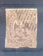 MEXICO MEXIQUE EMPIRE AÑO 1864 - AIGLE GRAVE - YVERT NR. 18c EXCELLENT OLD FORGERY EXCELENTE VIEJA FALSIFICACION OBLITER - Messico