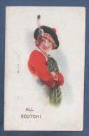 SCOTLAND - CP ILLUSTRATEUR A IDENTIFIER - BELLE JEUNE FILLE - ALL SCOTCH ! - J. SALMON SEVENOAKS N° 816 - CIRCULEE 1916 - Scotland
