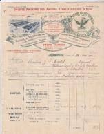 Facture 1911 SA Des Anciens Ets B PONS Traitement Vigne NARBONNE Aude - 1900 – 1949