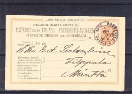 Finlande - Carte Postale De 1883 - Entier Postal - Oblitération Finska Poste... - Cachet ANK - Cartas