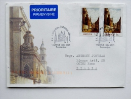 2 Scans Cover From Lithuania 2006 Vilnius Special Cancel Fdc Vilcinskis Vilnius Album Madonna Church To Italy - Lithuania