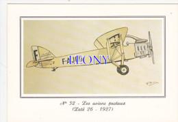 """CPM  """" AVIONS POSTAUX """"  - N° 52 - LATE  26-1927 :  MONOPLAN Pour Le Transport Courrier ( AEROPOSTALE ) - Postal Services"""
