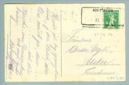 Heimat ZH Hinteregg 1914-VII.21 Aushilfsstempel Auf Postkarte - Suisse