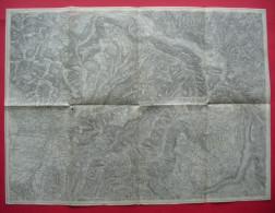 Ca. 1915 - Italy + Slovenia - Cividale Del Friuli, Tolmin Etc. (Tolmein) Map (Trento Etc. On Back) 5551 - Carte Topografiche