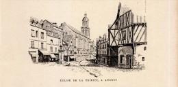 1888 - Gravure Sur Bois - Angers (Maine-et-Loire) - L'église De La Trinité - FRANCO DE PORT - Estampas & Grabados
