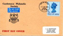 ILE DE MAN. Enveloppe Pré-timbrée Avec Oblitération 1er Jour De 1974. - Isle Of Man