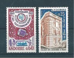 Andorre  Francais  De 1965  N°173/74  Neufs * - Andorre Français