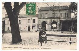 Seyches    1912  Marché Aux Prunes Avec Devanture La Poste Et Pub Picon - Otros Municipios