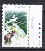 Canada   -   1991.   Alce Sul Fiume. Elk On The River. MNH - Selvaggina