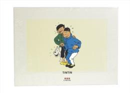 "Mini-poster Tintin ""Le Lotus Bleu"" (Tchang, Tintin & Milou) 1995 (30 X 40 Cm) BD - Serigrafía & Litografía"