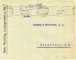Franko- Brief LUDWIGSHAFEN Nach Frankfurt Am Main 22.3.24 - Cartas