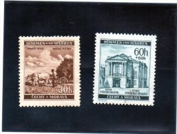 1941 Boemia E Moravia - Fiera Di Praga (nuovi Senza Gomma) - Unused Stamps