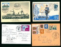 JOURNEE DU TIMBRE - 8 ENVELOPPES ET CARTES 1er JOUR - Stamp's Day