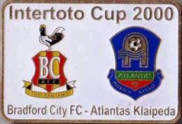 Football Soccer. Pin. 2000 Bradford City – Atlantas Klaipeda - Football