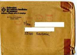 EMA Vacances,maison,village,gite,camping,federation Des Maisons Familiales De Vacances,lettre Paris 2.9.1985 - Hotels, Restaurants & Cafés
