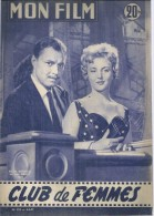 MON FILM N° 559 - CLUB DE FEMMES - Nicole COURCEL / Ivan DESNY / Dany CARREL / Jean-Louis TRINTIGNANT - 1957 - Cinéma