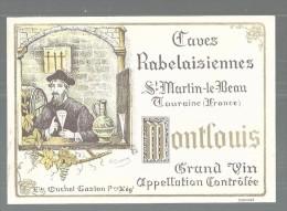 ETIQUETTE MONTLOUIS - CAVES RABELAISIENNES - TTBE - Etiquetas