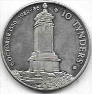 10 TYNDERS 6 OCTOBER 1536 1982-86 VILVOORDE - Jetons De Communes