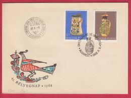 202896 / 1968 FDC -  DAY OF STAMP , OLD POTTERY - MEZOCSAT 1848 , NYUGATMAGYARORSZAG 1618 , Hungary - FDC