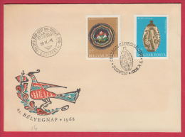 202897 / 1968 FDC -  DAY OF STAMP , OLD POTTERY - BAJA 1870 KORYL , TISZAFURED 1847 , Hungary - FDC