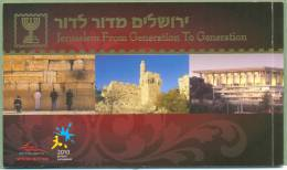 Israel 2010 Jerusalem From Generation To Generation Prestige Booklet - Booklets