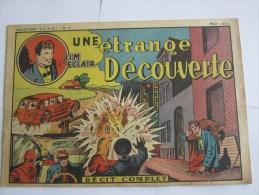 JIM L ECLAIR UNE ETRANGE DECOUVERTE N 61  1947 COLLECTION ELAN - Books, Magazines, Comics