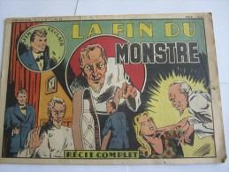 JIM L ECLAIR LA FIN DU MONSTRE N 62  1947 COLLECTION ELAN - Books, Magazines, Comics