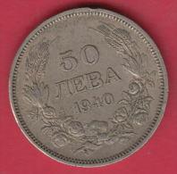 F5622 / - 50 Leva -  1940 - Tsar Boris III Of  Bulgaria Bulgarie Bulgarien Bulgarije - Coins Monnaies Munzen