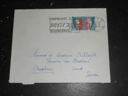 PARIS VII RUE CLER - FLAMME EMPRUNT PTT SUR YT SERVICE 26 UNESCO - Lettres & Documents