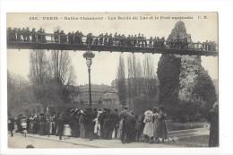 13913 -  Paris Buttes Chaumont Les Bords Du Lac Et Le Pont Suspendu - Arrondissement: 19