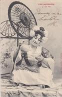 FANTAISIE----LES BOISSONS----le Thé-- (bergeret )--voir 2 Scans - Femmes