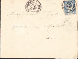Lettre Du 4ème Cuirassiers Cercle Des Sous-Officiers CAMBRAI (Nord) Du 13 Mai 1898 Via NOISSEY (Jura) - 1877-1920: Période Semi Moderne
