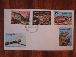 1985 Burkina Faso - Reptiles & Lizards - FDC - Burkina Faso (1984-...)