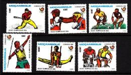 Mozambique MNH Scott #1035-#1039 Set Of 6 1988 Summer Olympics Seoul: Javelin, Boxing, Baseball, Cycling, Gymnastics - Mozambique