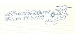 Autografo Di G. Rebuffi, - Autographes
