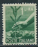 Italia 1945/48 Nuovo** - Democratica £ 1 - 6. 1946-.. Repubblica