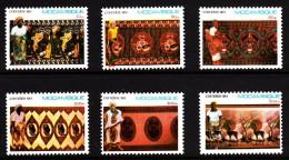 Mozambique MNH Scott #1110-#1115 Set Of 6 Textile Designs - Mozambique